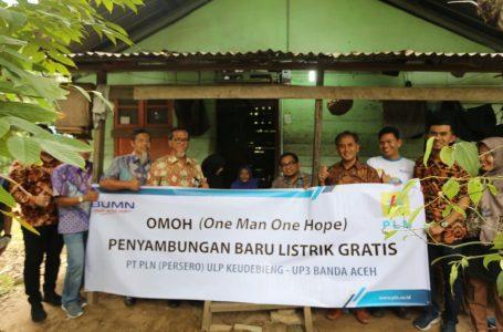 PLN Sambung Listrik Gratis Untuk Warga Tidak Mampu Di Aceh Besar