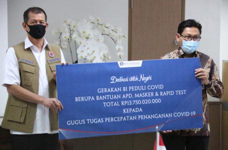 Bank Indonesia Donasikan Alat Kesehatan Penanganan COVID-19 Melalui Gugus Tugas Nasional