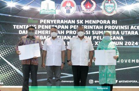 Sejarah Pertama, Menpora RI: Resmikan Aceh dan Sumut Tuan Rumah PON XXI Tahun 2024