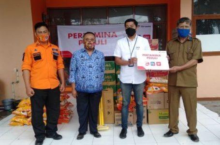 Pertamina Peduli Bencana Banjir, Suplai Logistik untuk Pengungsi di Kabupaten Bandung