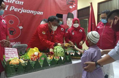 Peringati HUT PDI Perjuangan ke-48th, Banteng Muda Indonesia Gelar Santunan Yatim Piatu