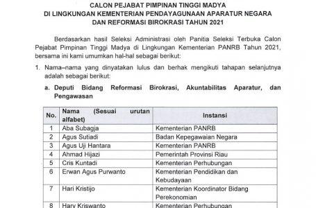 Babak Awal Pencarian PPT Madya Kementerian PANRB