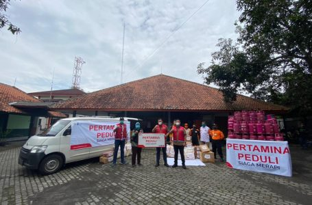 Pertamina Peduli Salurkan Bantuan Siaga Merapi di Magelang