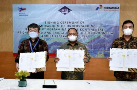 Pertamina Trans Kontinental Kembangkan Bisnis Bersama China Road and Bridge Construction Indonesia