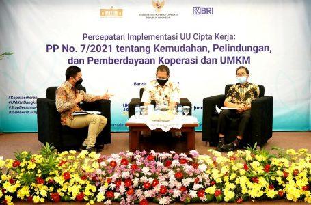 KemenkopUKM Sosialisasikan Percepatan Implementasi PP No 7/2021 Bagi Pelaku UMKM Bandung