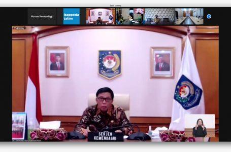 Kemendagri Minta Perencananaan dan Keuangan Daerah Provinsi Jatim Disesuaikan dengan Kondisi Pandemi Covid-19