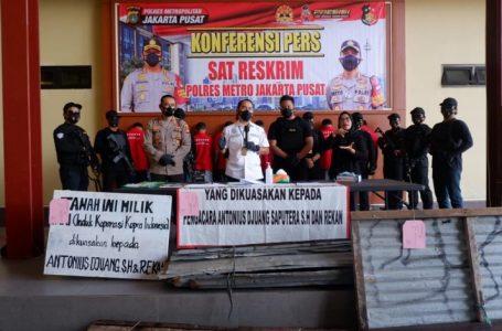 Ringkus Mafia Tanah, Polres Jakpus Gaungkan Zero Premanisme